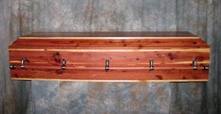 Premier Western Red Cedar Casket by Caskets by Design