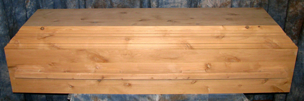 Eco Casket made from Alder wood.