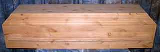 eco friendly casket - 100% biodegradable materials.