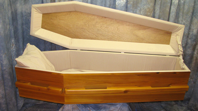 Eco Cedar Coffin Open Lid