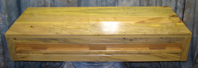 Spalted Maple Casket w/ natural clear finish.
