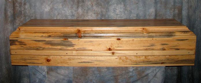 Basic Blue Pine Casket by Caskets by Design