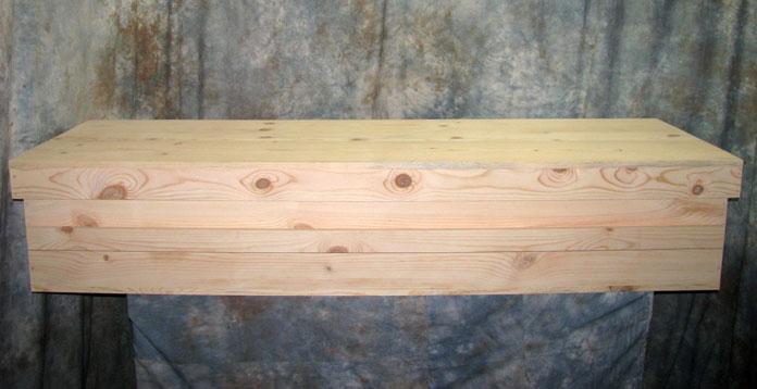 Simple Pine Casket by Caskets by Design