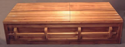 Solid Poplar Wood Casket.