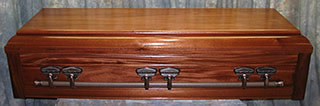 mahogany casket - wide selection a styles to choose.